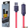"""Кабель USB 2 В 1 iPhone и Micro USB """"Remax 27T"""""""